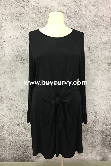 Sls-I Midnight Black With Front Tie Belt Detail Sale!! Sls