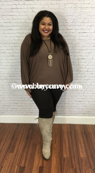 Sls-I Mocha With Boat Neck & Bubble Sleeves Sale!! Sls