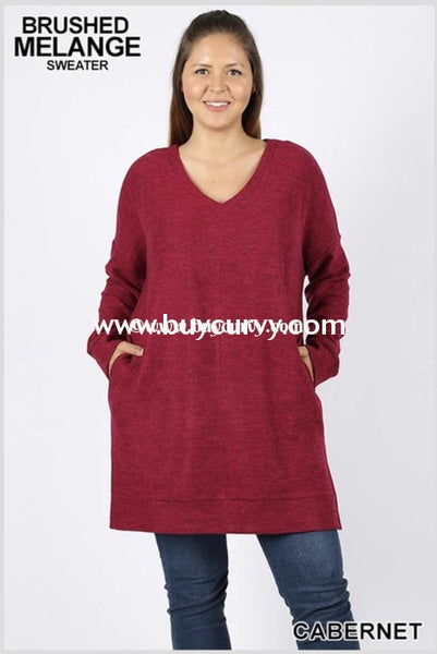 Sls-I {Rave Reviews} Long Cabernet Tunic With Split Sides Sls