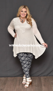 Sls-M Ivory Asymmetrical With Embroidery Neckline Sale!!! Sls