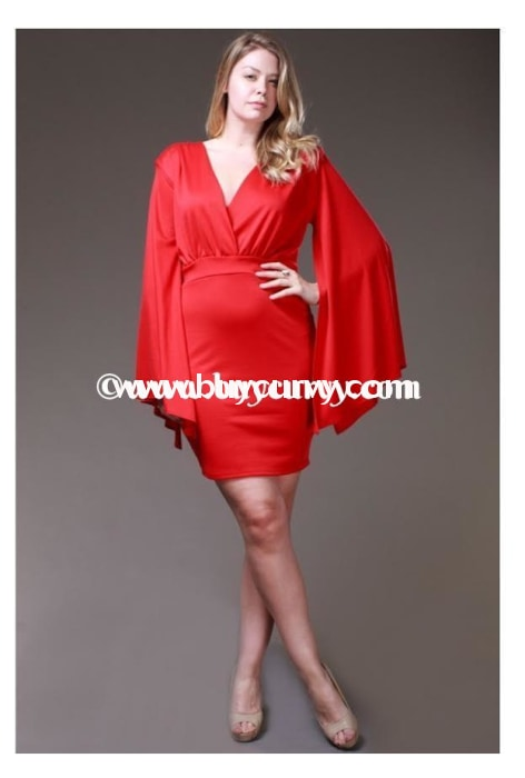 Sls-N Symphony Red V-Neck With Angel Sleeves Sale!! Sls