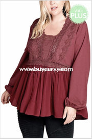 Sls-Q {Pleasant Dreams} Tunic With Crochet Lace Detail Sls
