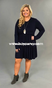 Sls-S Bellamie Indigo Dress With Tiny Double Ruffle Detailing Sls