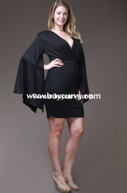 Sls-S Symphony Blk V-Neck Mini With Angel Sleeves Sale!! Sls