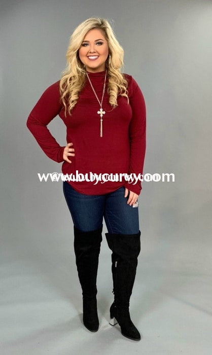 Sls-Y {Helen Of Troy} Burgundy Turtleneck Long Sleeved Sale!! Sls