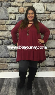 Sls-Z Voll Maroon Long Sleeved V-Neck Sale!! Sls