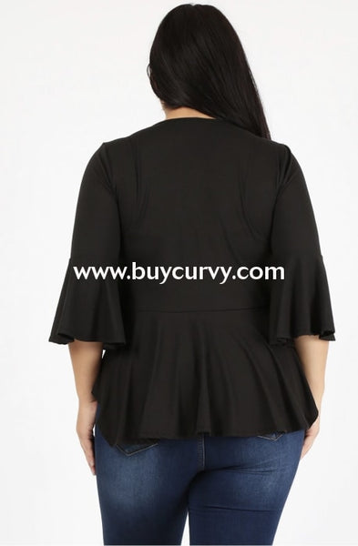Sq-B {Make Me Love U} Black String-Tie Bolero Style Top Sq