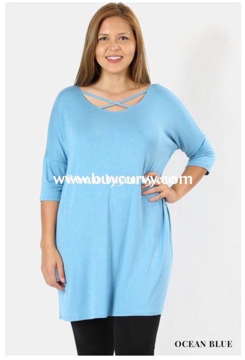 Sq-C Blue Bayou With Criss-Cross Detail Sale!! Sq