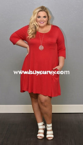 147b9243e8087 Sq-C  Trust Me  Red With Pockets   3 4 Sleeves Sale