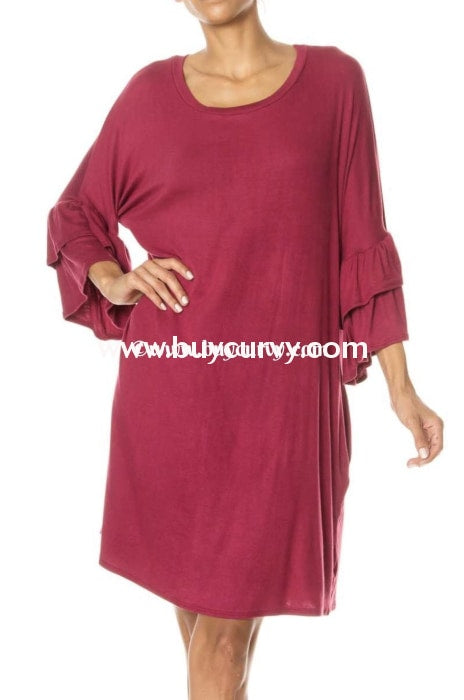 Sq-E {Shes Got The Look} Maroon With Ruffle Sleeves Sale!! Sq