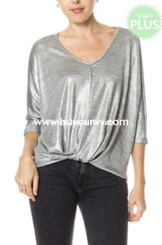 Sq-G {Sassy Mouth} Silver Metallic With Gathered Hem Sale!! Sq