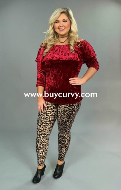 Sq-P Burgundy Crushed Velvet With Elastic Yoke Detail Sale!! Sq