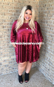 Sq-T Burgundy Velvet V-Neck With Pockets Sale!! Sq