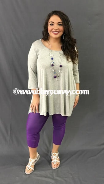 Sq-X Now & Forever Gray Loose Fit With 3/4 Sleeves Sale!! Sq
