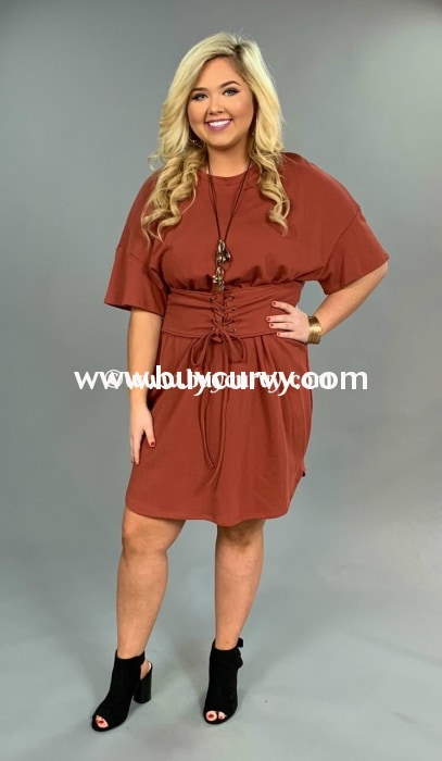 Sss-D Soprano Rust With Wide Lace-Up Belt 100% Cotton Flash Sale!! Sss
