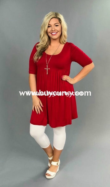 Sss-N {Too Much Fun} Red Babydoll Tunic Or Dress Sss