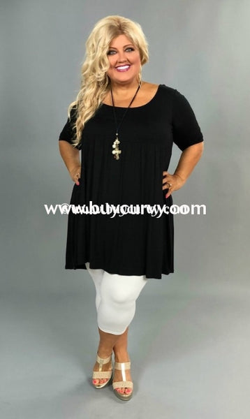 Sss-X Coal Babydoll Dress Or Top With 2/3 Sleeves Sss