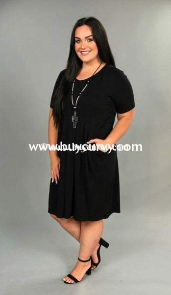 Sss-X Piece Of Me Black Babydoll Dress W/ Pockets Sss