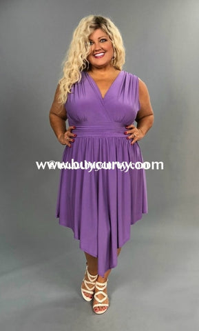 Sv-D {Find Me} Lilac Sleeveless With Ruched Waist Sale!!