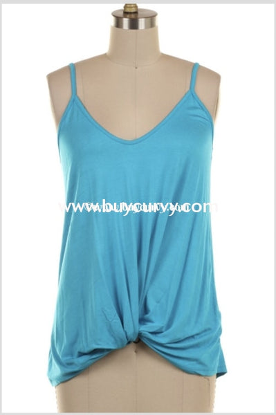 Sv-H {Say Youll Stay} Blue Sleeveless With Twisted Hem Sale!