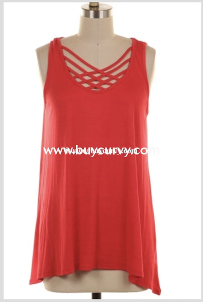 Sv-W Perfect In All Of Your Ways Red Cage Sale!! Sleeveless