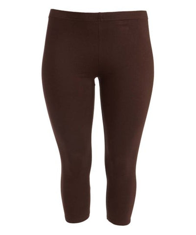 "LEG/34- ""Sofra"" Brown (90%Poly/10% Span) Leggings"