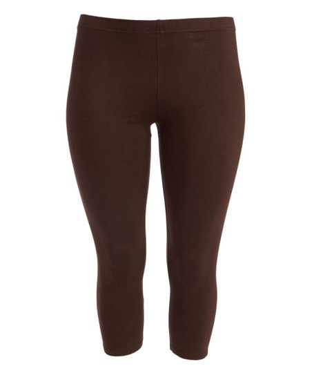 "SLS/34- ""Sofra"" Brown (90%Poly/10% Span) Leggings"