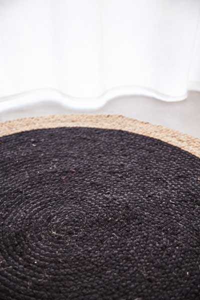 scandinavian brown rug