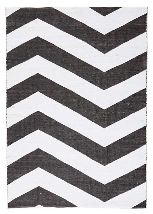 Coastal Black Rug Chevron