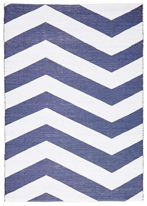 Coastal Navy Rug Chevron