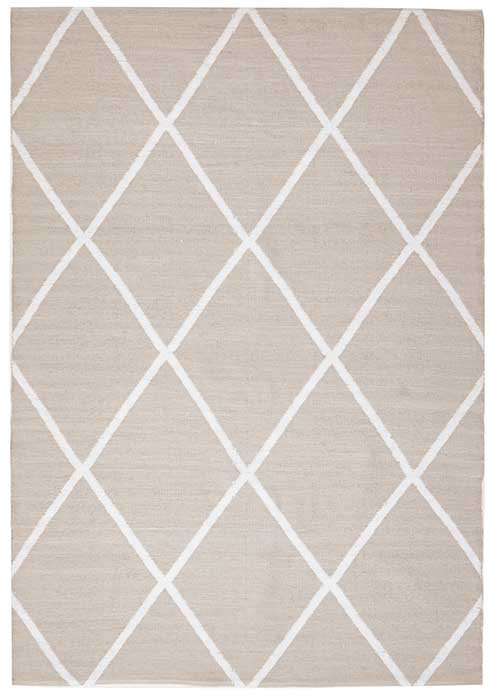 Coastal Taupe Diamond Pattern