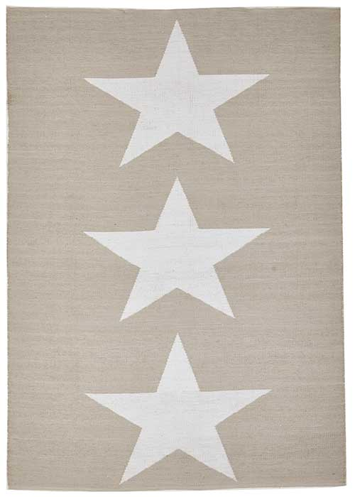 Coastal Taupe Star Pattern