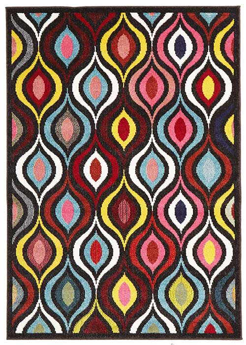 gemini teardrop eye multi rug