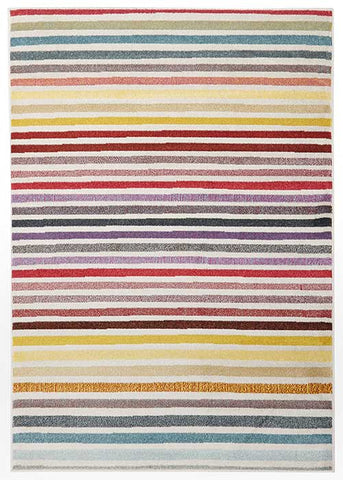 Striped multi colour gemini rug