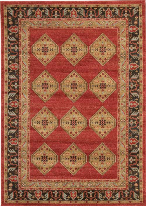 Jewel Traditional Red Rug