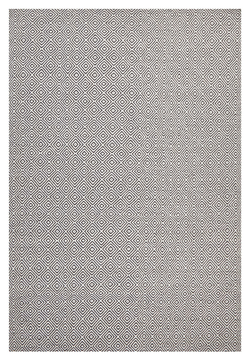 scandinavian grey diamond pattern rug