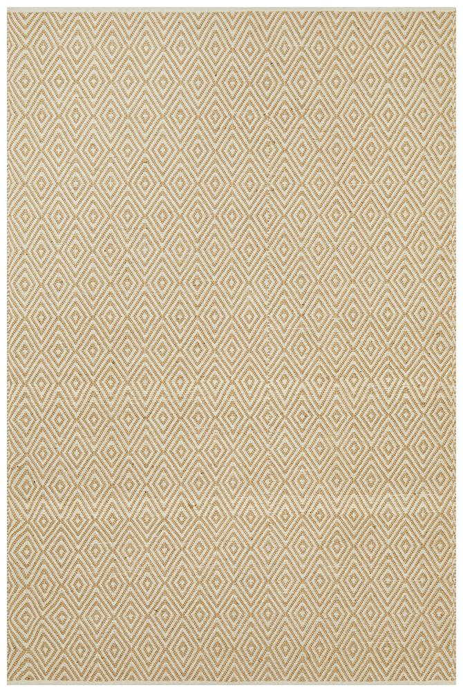 Abode Diamond Design Beige Rug