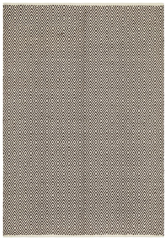 Abode Diamond Design Chocolate Rug