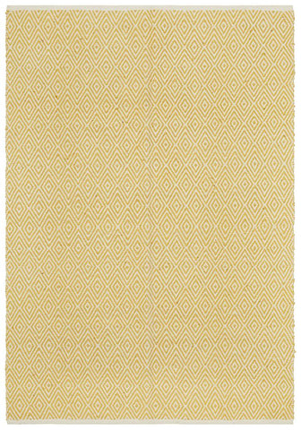 Abode Diamond Design Yellow Rug