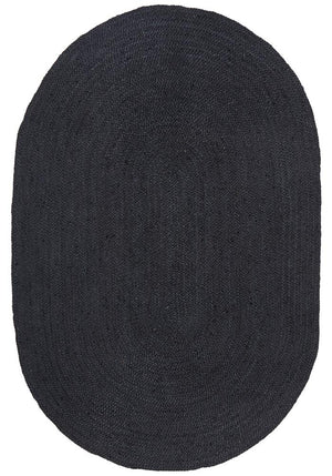 Bondi Black Oval Rug