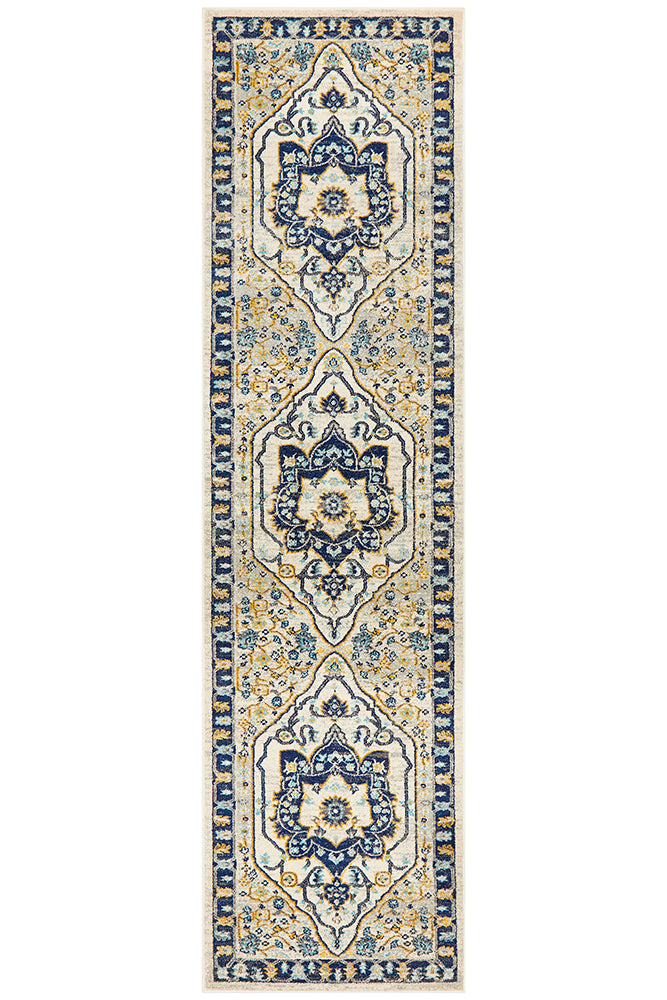 Babylon 201 Navy Runner Rug