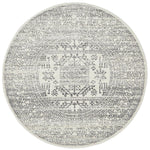 Chrome Addison Silver Round Rug