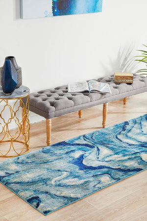 Dream Scape 862 Indigo Runner Rug