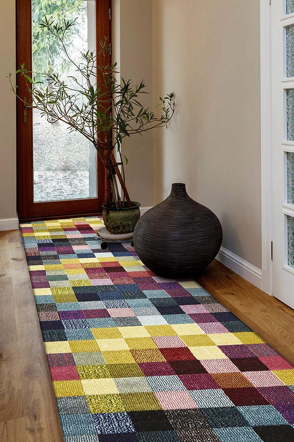 Gemini Modern 505 Multi Coloured Runner Rug