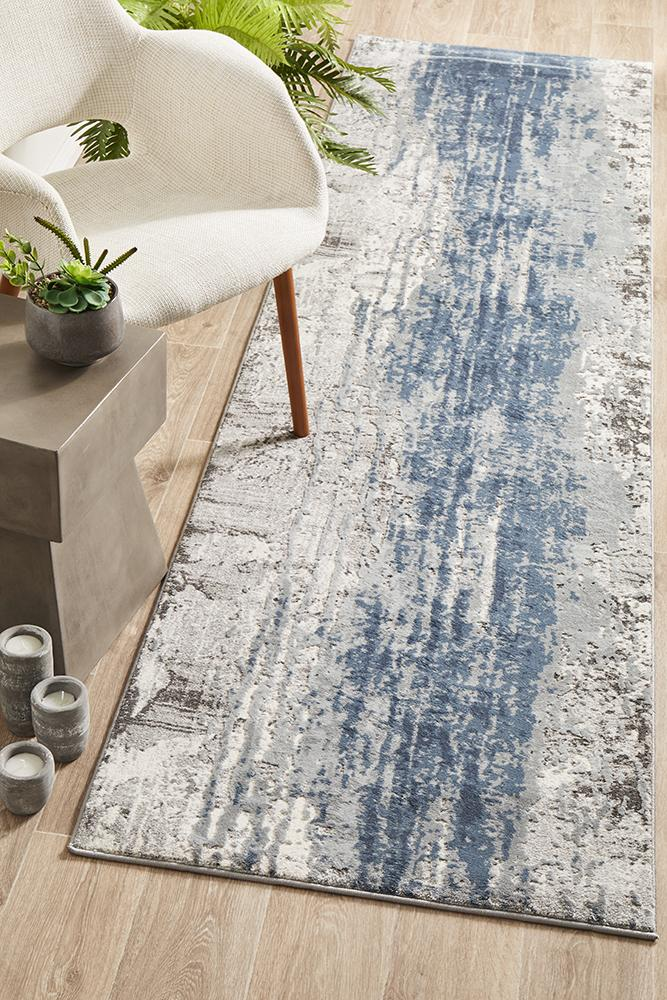 Kendra 1733 Blue - Runner Rug