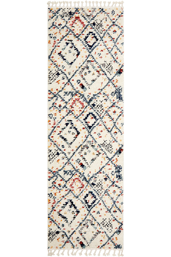 Marrakesh 111 White Runner Rug