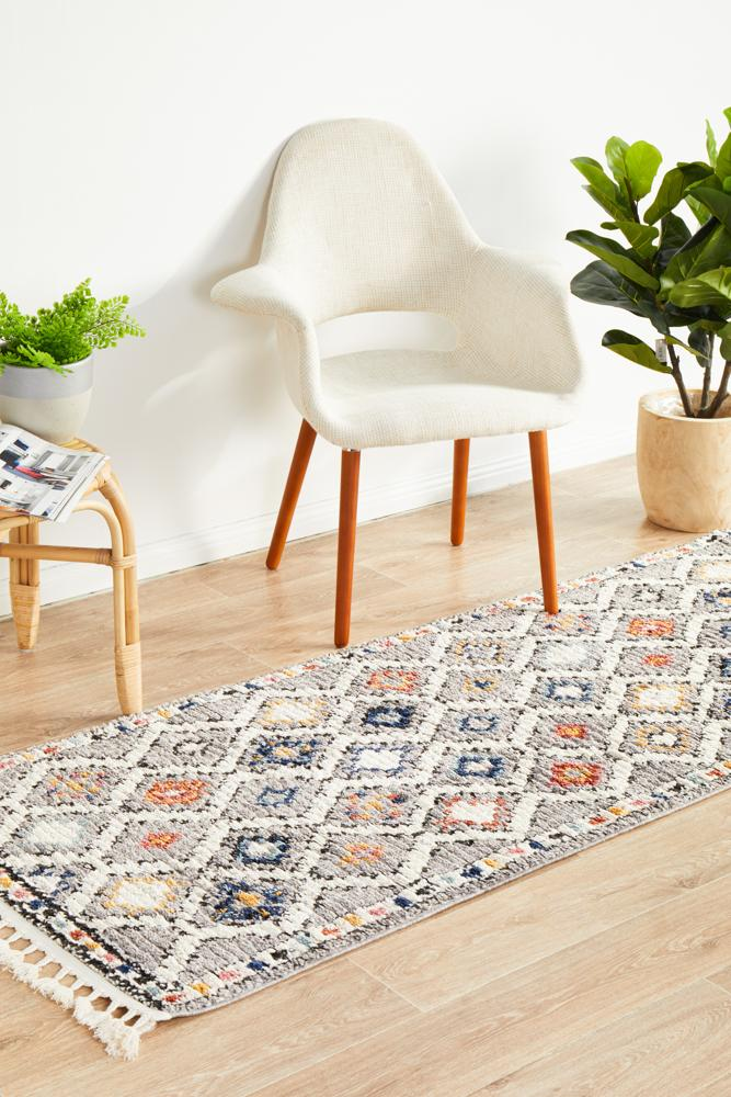Marrakesh 555 Grey Runner Rug