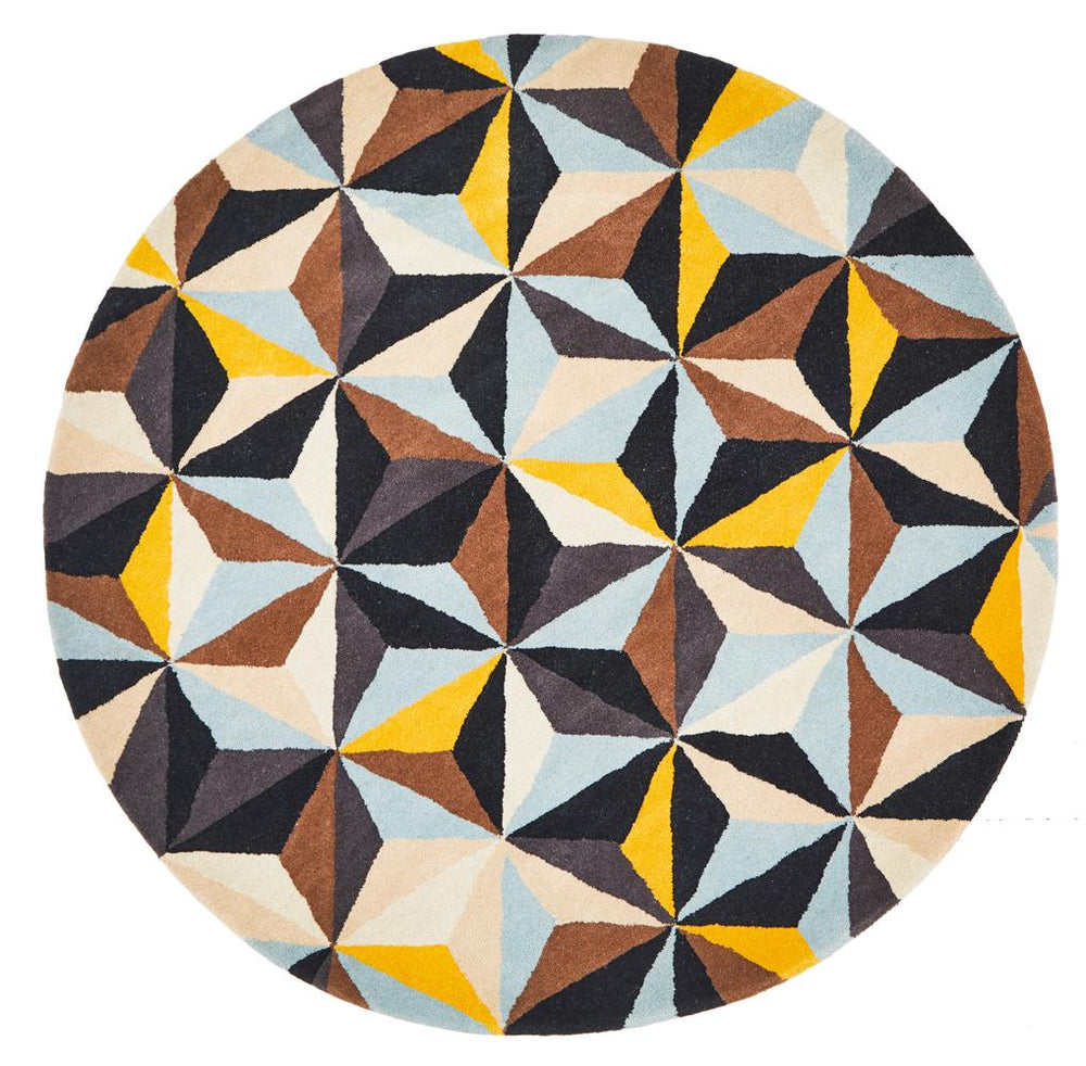 Matrix 900 Blue Round Rug