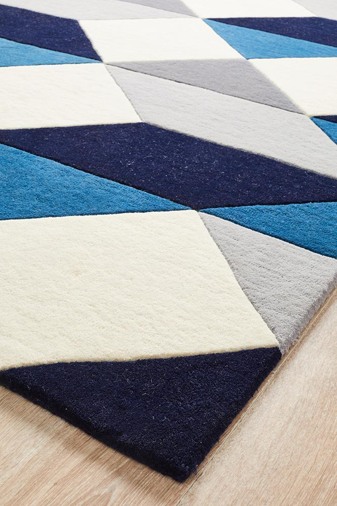 Matrix Pure Wool Steel Rug