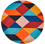 Matrix 904 Sunset Round Rug